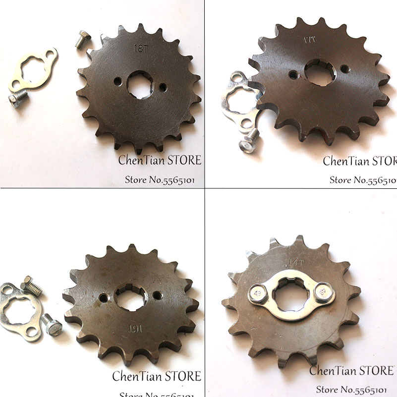 428 Chain 14T 15T 16T 17T 17MM Motorcycle Front Engine Sprocket For 50cc to <font><b>125cc</b></font> Dirt Bike ATV Go Kart Quad <font><b>Pitbike</b></font> Buggy image