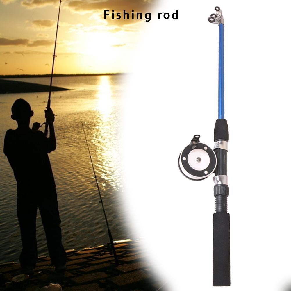 New Fishing Rod 74cm/110cm EVA Material Ice Fishing Rod Beginners Short Lure Fishing Rod Non-slip Power Hand Fishing Tackle