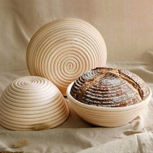 Bread Round Rattan Bowl Rattan Bread Basket Bread Basket With Cloth Cover Home Bakers Kits - 22 x 8cm/25X8cm bread