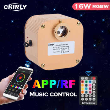 Fiber Optic Light Source Music Control Twinkle CREE Chip 16W APP/ RF control RGBW LED Engine Driver for All Fiber Optic Cable - DISCOUNT ITEM  33% OFF All Category
