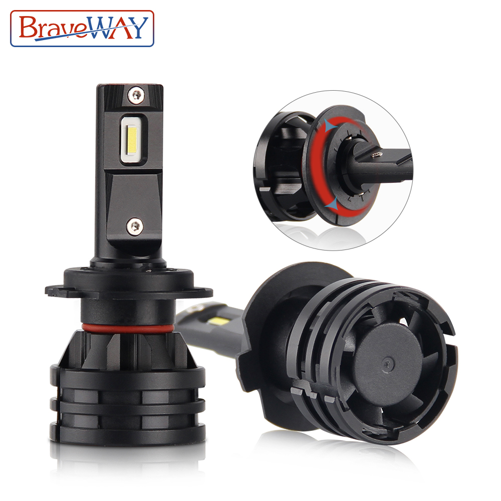 BraveWay 16000LM 6500K 12V H1 H4 H7 <font><b>H11</b></font> 9005 HB3 9006 HB4 <font><b>LED</b></font> Car <font><b>Headlight</b></font> <font><b>Bulbs</b></font> Auto <font><b>LED</b></font> <font><b>Bulbs</b></font> <font><b>LED</b></font> Lights for Motorcycle image