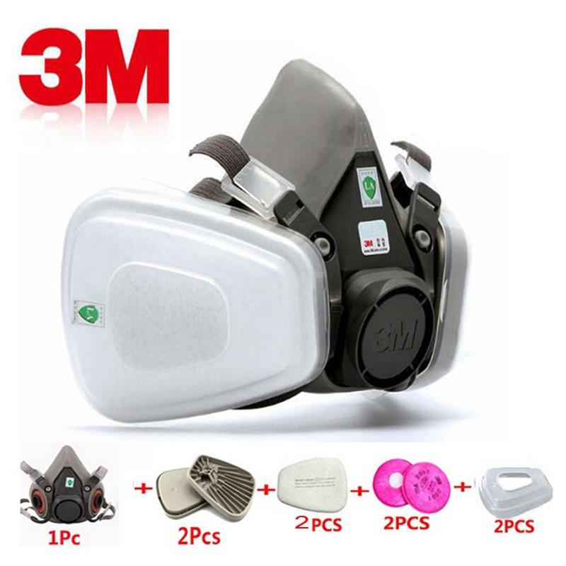 9 In 1 3M 6200 Half Face Paint Spray Gas Mask Respirator Protective Safety Work Dust Proof Respirator Mask With Filter Industry