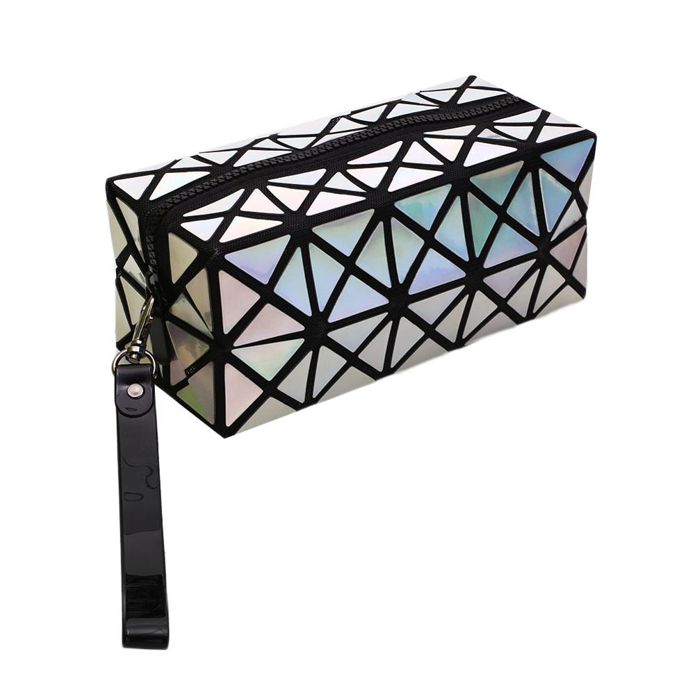 Rectangular Diamond Folding Laser Women's Cosmetic Bag