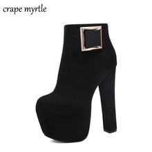 Ankle Boots Women Platform High Heels Female fall boots Women's Shoes Woman Short Boot Ladies Footwear sexy black boots YMA917 2019 autumn new ankle boots for women platform high heels female lace up shoes woman buckle short boot casual ladies footwear