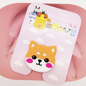 Image 4 - Universal socket phone Stand bracket airbag Expanding Stand stretch grip phone Holder Finger Cute cartoon stand car phone Holder