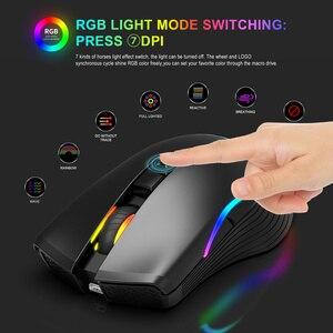 Image 5 - Zerodate novo TYPE C rato de carregamento rápido sem fio 2.4g colorido luz respiração preto adequado para computador portátil desktop