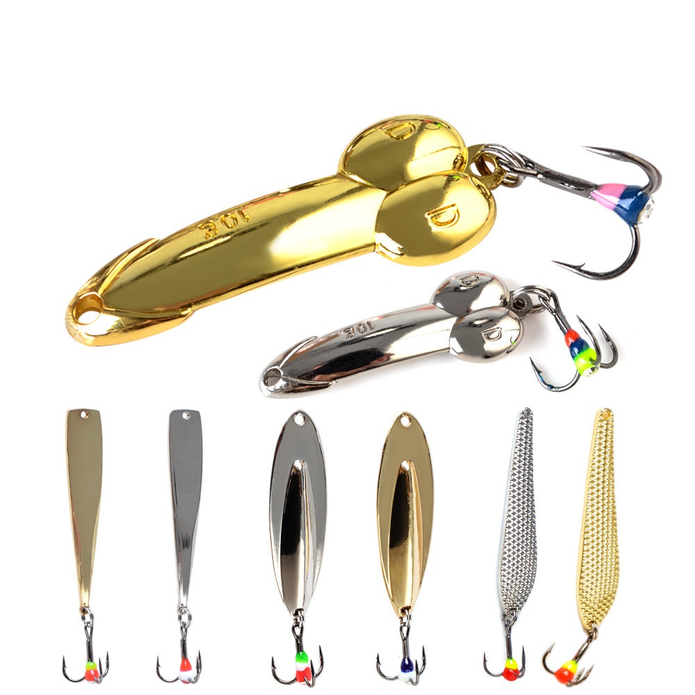5-20g Silver Gold Balancers Metal Fishing Lure Winter Fishing DD Spoon Bait Wobbler For Trolling Spinner Hard Lure Bass Pike