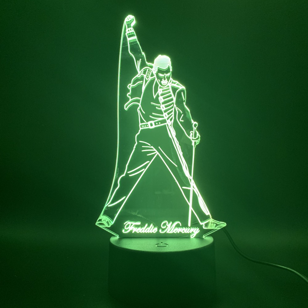 <font><b>Freddie</b></font> <font><b>Mercury</b></font> <font><b>Figure</b></font> toys 3D Nightlight Visual Illusion LED 7 Color Changing <font><b>Freddie</b></font> <font><b>Mercury</b></font> <font><b>Action</b></font> <font><b>Figure</b></font> Novelty toys image