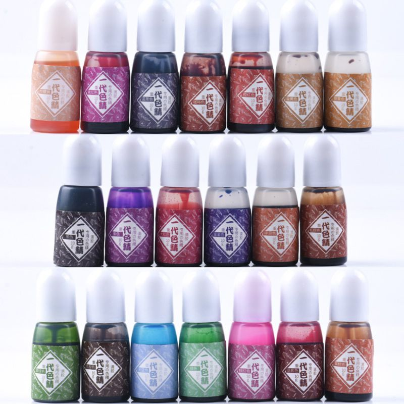 UV Resin Pigment DIY Epoxy Resin Crafts 20 Colors High Concentration Colorant Jewelry Making Ink Painting Effect Findings Transp