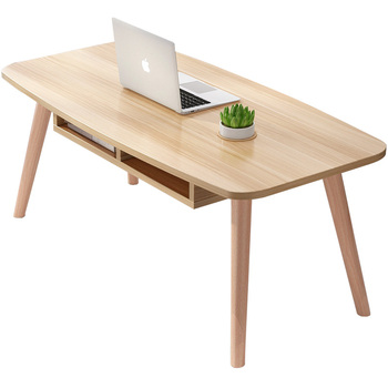 Ins wind wood simple Nordic coffee table small apartment short  creative   living room modern side