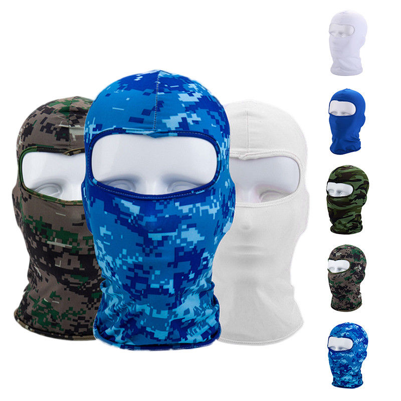 Cycling Face Mask Ski Neck Protection Outdoor Balaclava Full Face Mask Ultra Thin Breathable Windproof Soft Smooth Mask