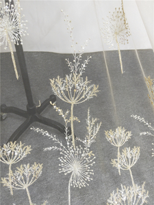 Image 2 - 1 Yard Luxury Gold bead dandelion sequin tulle embroidery lace fabric haute couture fabric lace DIY craft wedding 135cm wide