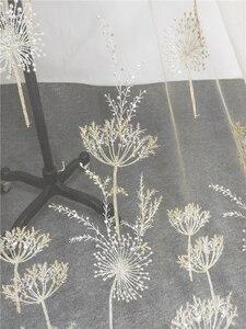 Image 2 - 1 Yard Luxus Gold perle löwenzahn pailletten tüll stickerei spitze stoff haute couture stoff spitze DIY handwerk hochzeit 135cm breite