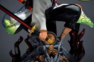 Image 5 - Action 50CM One Piece anime figure toy One piece Zoro 3D PVC kimono figure Model Zoro garage kit Decoration Collection for Fans