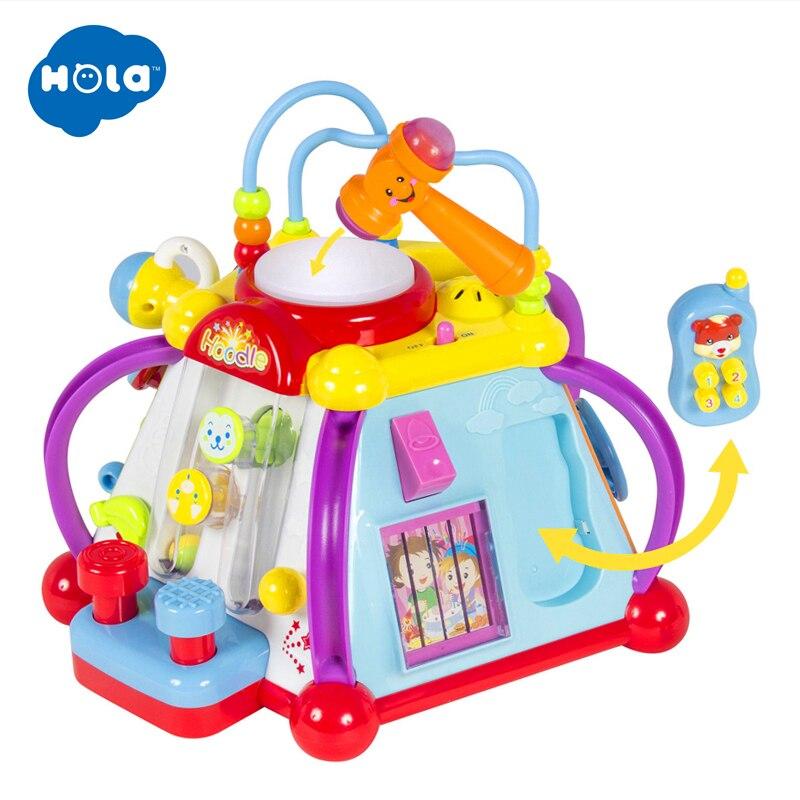 HOLA 806 actividad Musical cubo juguete desarrollo juego educativo jugar aprendiendo juguete centro para bebés de 1 año de edad niños niñas - 6