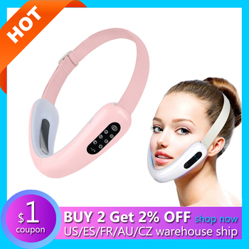 V Line Shape Massager For Face Lift Slimming Machine Lifting Facial Microcurrent Slimmer Double Chin Skin Tightening Device