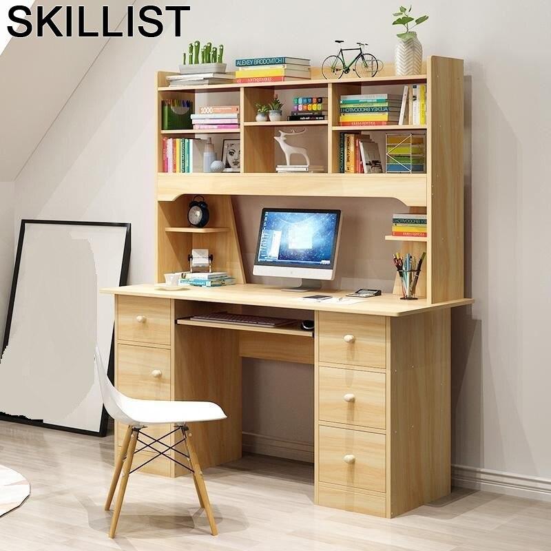 Lap Notebook Escritorio Office Scrivania Ufficio Small Bed Tray Biurko Computer Mesa Laptop Stand Desk Table With Bookshelf