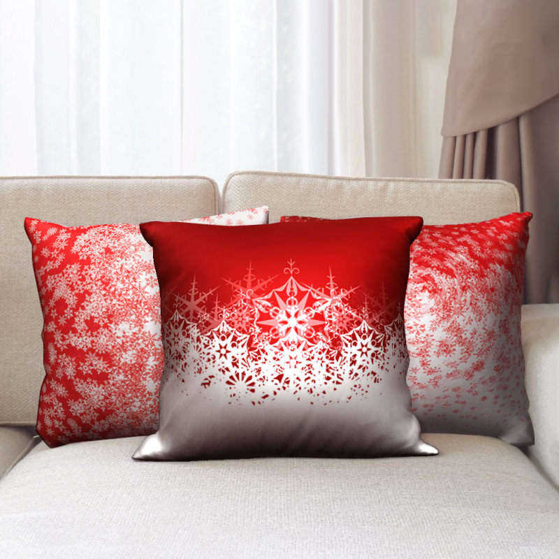 Наволочка для подушки nanacoba red merry christmas рождественский