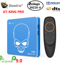 Beelink S922X H GT Rei Pro Amlogic Android 9.0 Caixa de Tv Inteligente DDR4 4GB 64GB 2.4G 5.8G Wifi 1000M 4K Media Player VS AM6 PLUS