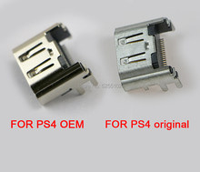 1PC For Sony PlayStation PS 4 HDMI-compatible Socket Jack Connector For PS4 Console Port for ps4 OEM for ps4 Original new