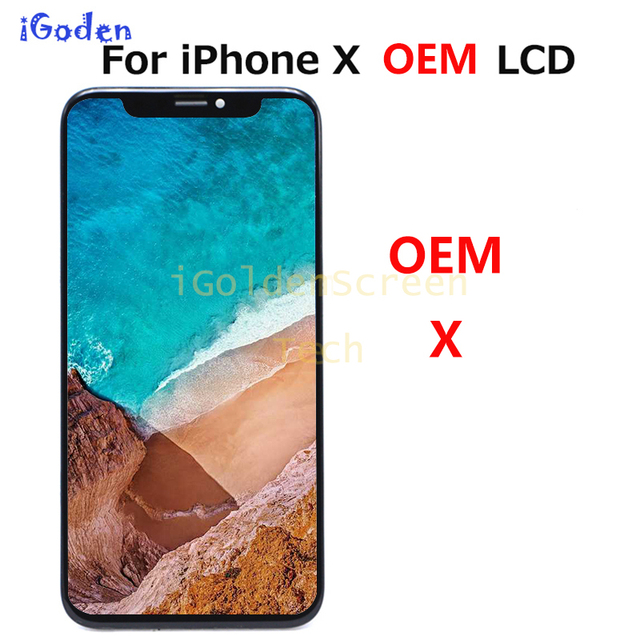 OEM Thay Thế Cho Iphone X MÀN HÌNH Hiển Thị LCD Với Bộ Số Hóa Cảm Ứng cho iPhone X Màn Hình LCD