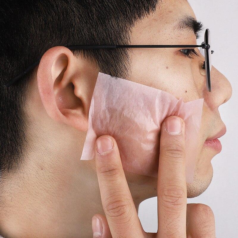 50pcs/set Protable Facial Absorbent Paper Oil Control Wipes Green Tea Absorbing Face Makeup Supply
