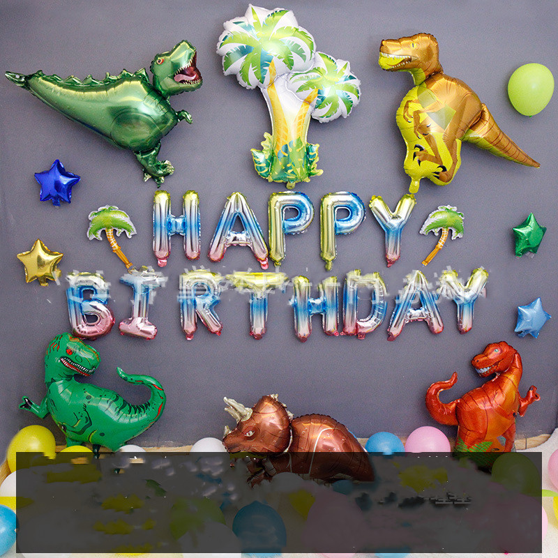 Baby Party Decorations Set The Dinosaurs Theme Newborn Baby Boys Birthday Party Kids Boys Party Decorations