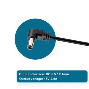 Image 5 - 3 미터 AC/DC 전원 어댑터 LED 조명 및 모니터 EU 플러그 충전기 100 240V DC 15V 2.4A Viltrox VL 200T VL 300T VL 500T