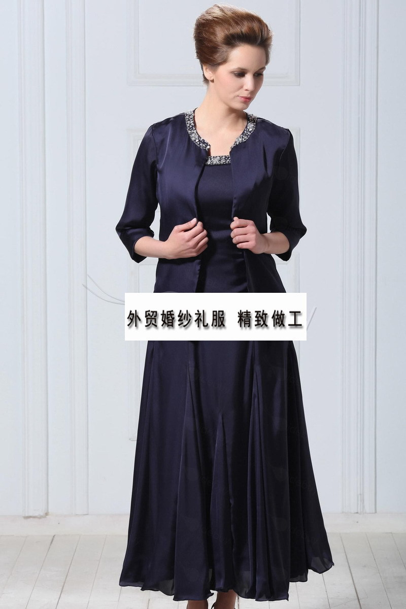 Free Shipping Party Cheap Crystal Vestido De Madrinha 2016 New Fashionable Gorgeous Mother Of The Bride Dresses With Jacket
