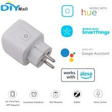 Zigbee Smart Plug Compatible with Philips Hue Alexa Echo Dot SmartThings Hub Works with Google Home Voice Pairing Zigbee 3.0