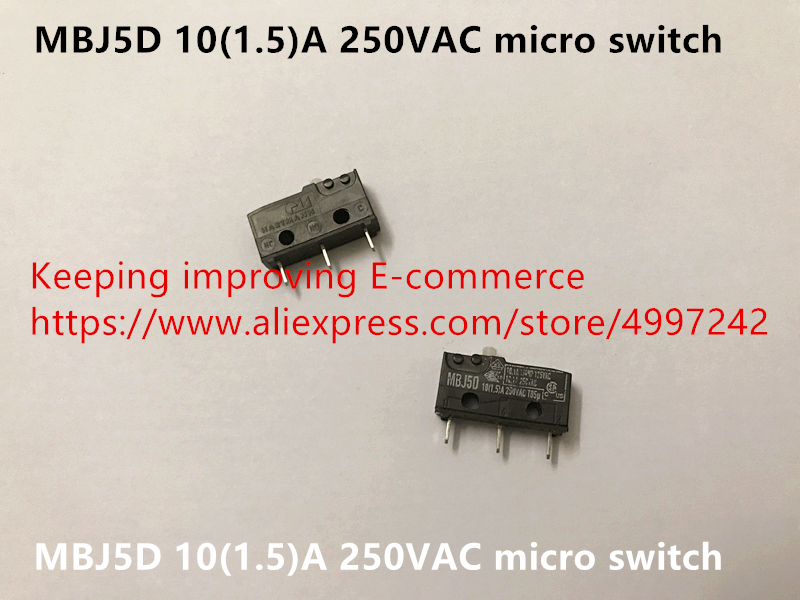Original New 100% Germany Import MBJ5D 10(1.5)A 250VAC Micro Switch