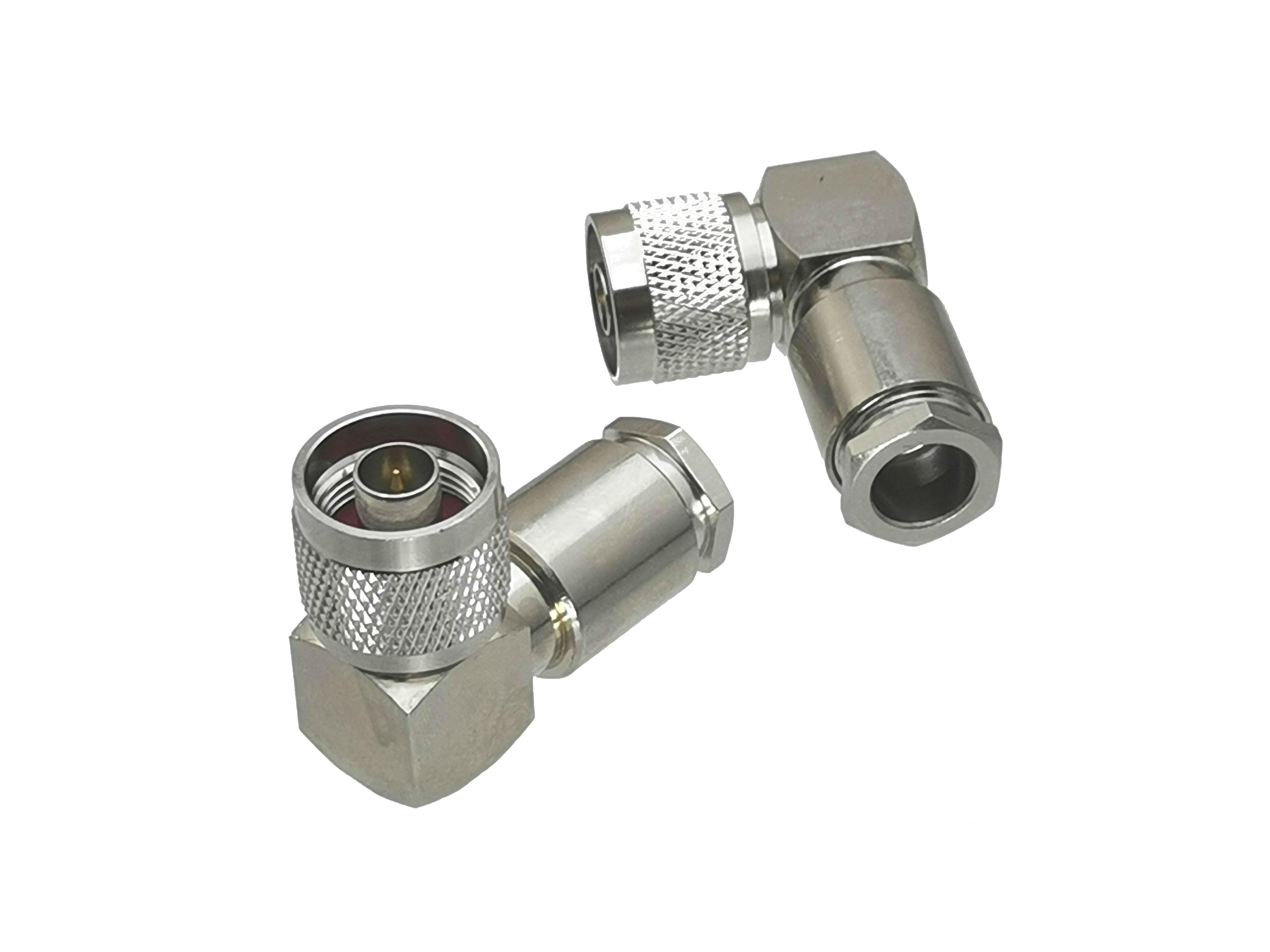 5pcs Connector N Male Plug Clamp RG8 RG213 LMR400 RG214 9913 Right Angle