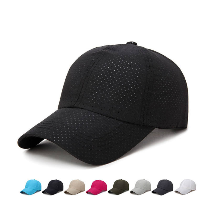 New Ultra-slim Running Cap Fabric Summer Cap Unisex Quick Dry Mesh Cap Running Hat Bone Breathable Hats