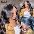 13x4 кружева фронтальные объемная волна парики 360 кружева фронтальной парик бразильский человеческих волос парики объемная волна Кружева За...