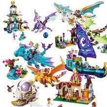 цена на Bela Elves 10549 The Dragon Sanctuary Building Bricks Blocks DIY Educational Toys Compatible with 41178 Friends