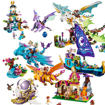 цена на Bela Elves 10549 The Dragon Sanctuary Building Bricks Blocks DIY Educational Toys Compatible with 41178 Friends
