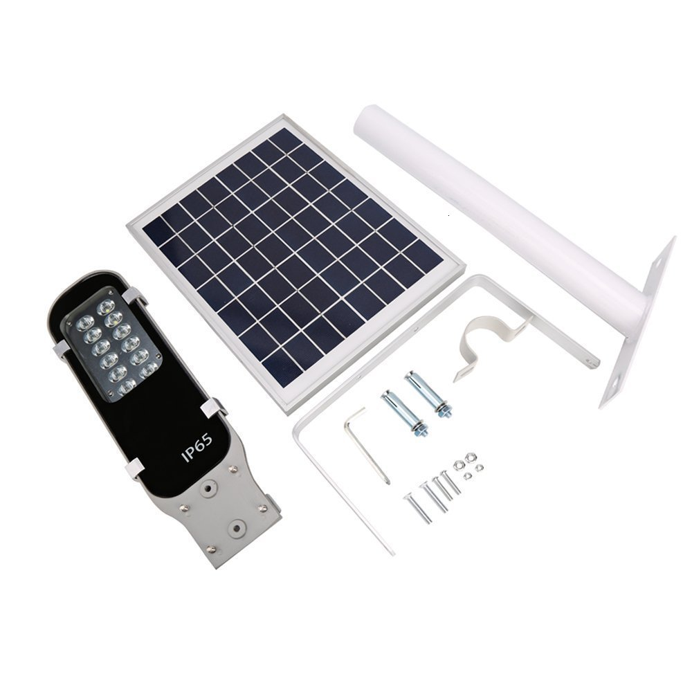 2pcs Solar Led Outdoor Street Lamps Aluminum Bridgelux Chip 120lm/w Solar Power Led Street Light Outdoor Ip65 6v 10w All In One