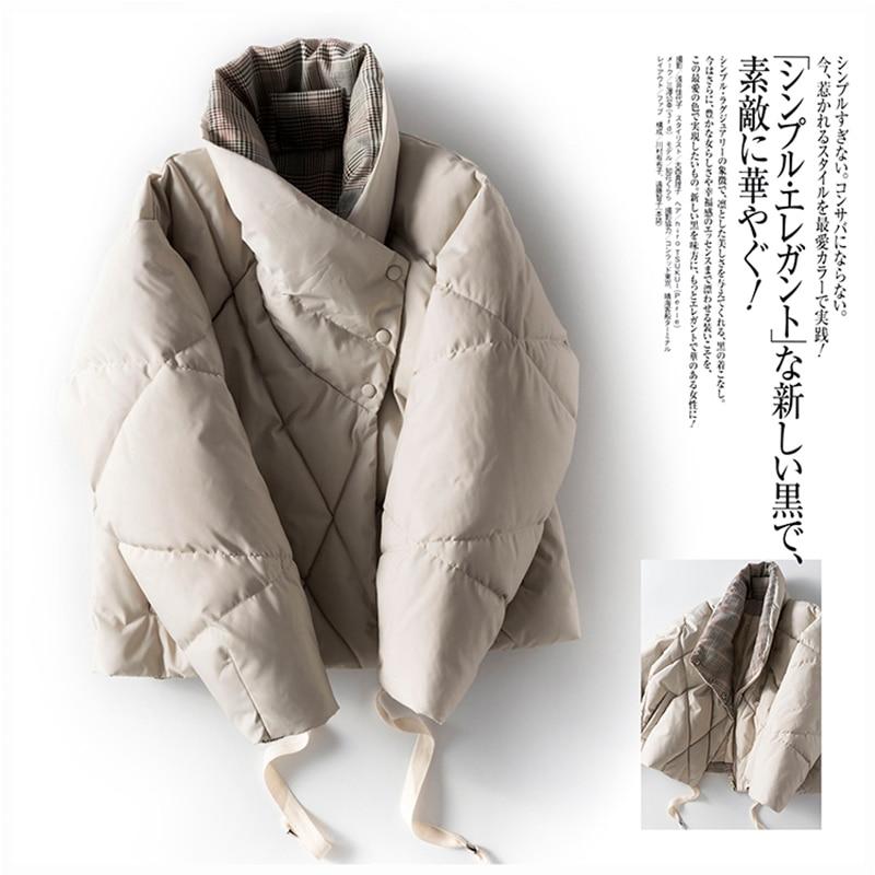 Japan Style 90% White Duck   Down     Coat   Winter Designer Women   Coats   2019 High Quality Zipper Women's Warm Jackets Female