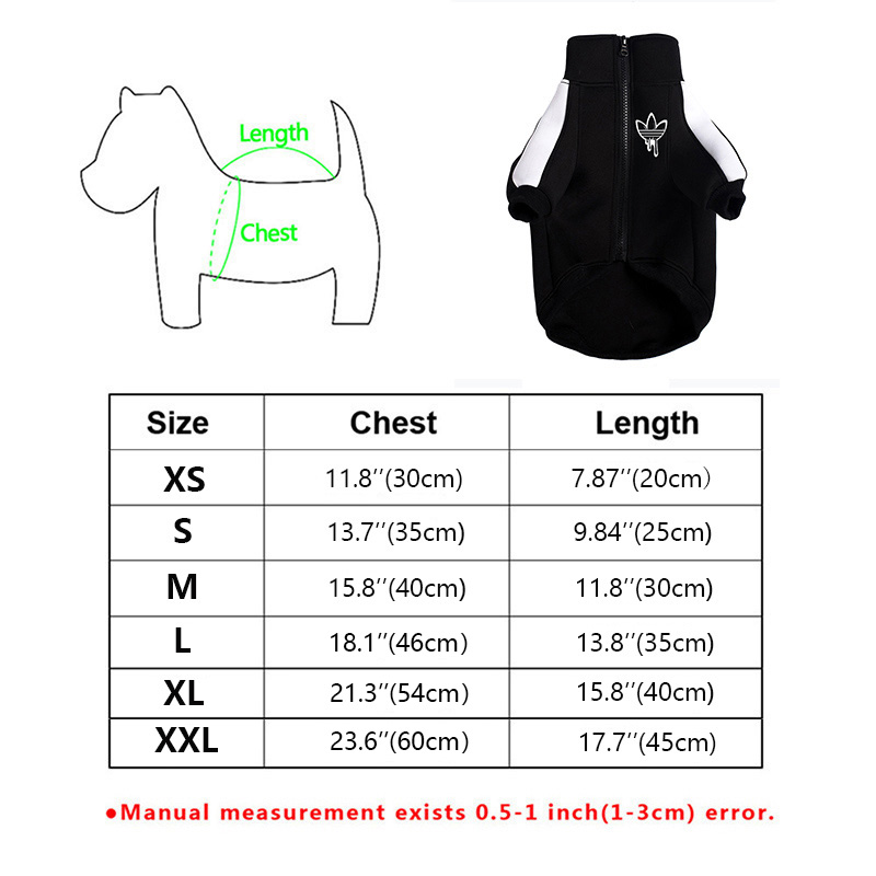 Fashionable Dog Jacket with Strong Zipper for Bulldog as Winter Clothing