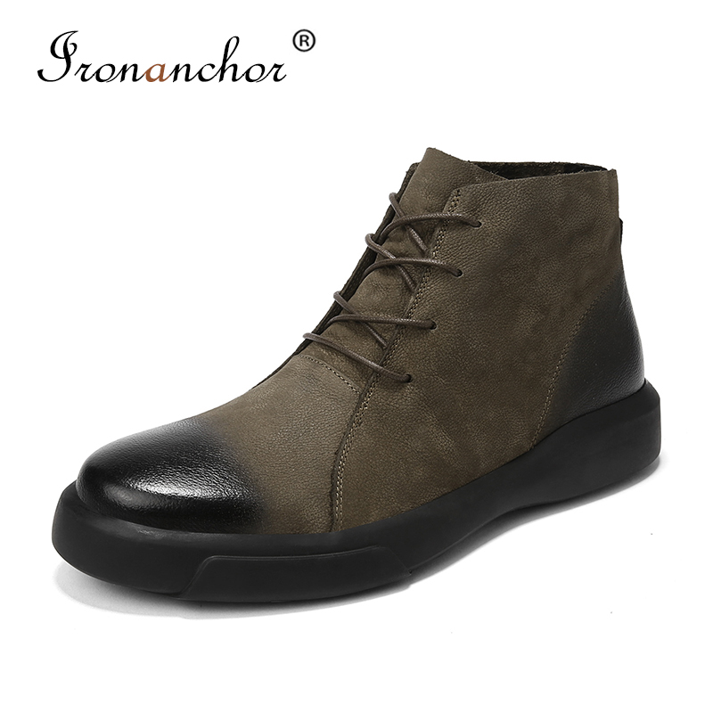 2019 Winter Men Ankle Boots High Quality Warm Luxury Rubber Male Boots #XS89071