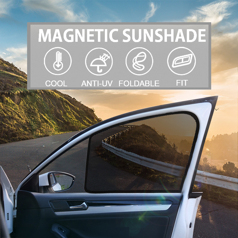 2PCS Magnetic Car Front Side Window SunShades Cover For Toyota Corolla 10st 11st Camry 6th 7th Prius 30 50 car curtain sun shade image