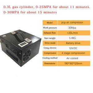 Image 5 - 4500psi 300bar 30mpa 12V/220V For PCP Air Gun Inflatable PCP Air Compressor 12V Miniature Pcp Compressor Including Transformer