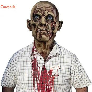 Cosmask Halloween Horror Old Man Who Gnash Teeth Mask Party Cosplay Bloody Disgusting Rot Face Masquerade Latex Mask image