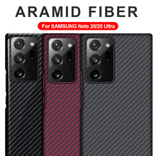 GRMA Real Pure Carbon Fiber Cover For SAMSUNG Note 20 S20 Ultra Case Ultra Thin For Samsung Galaxy S10 S9 Note 10 Plus Lite Case