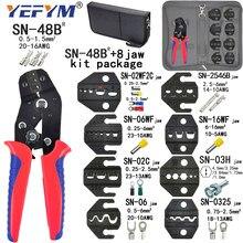Pince à sertir SN-48B 8 kit de mâchoires paquet pour 2.8 4.8 6.3 VH2.54 3.96 2510/tube/isolé bornes électriques pince outils