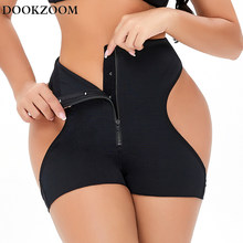 Sexy bunda levantador para mulher gancho & zip controle calcinha corpo shaper cintura trainer bodysuit inferior push up underwear shapewear senhora