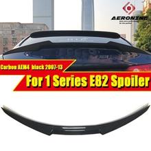 E82 Rear Trunk Spoiler Wing Lip Carbon Fiber AEM4 Style Fit For BMW E82 118i 120i 125i 128i 130i Car Rear Spoiler Lip 2007-2013 carbon fiber wing mirror cover for bmw e82 e87 2007 2008 add on style