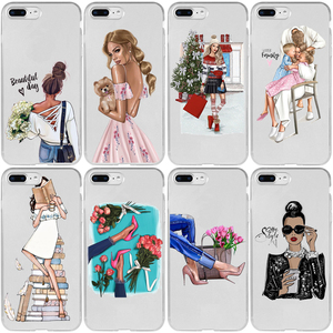 Beautiful Girl Love Shipping Booking Day Cover Case for iPhone 5 5S SE 2020 6 6S 7 8 Plus XR X XS 11 12 Mini Pro Max