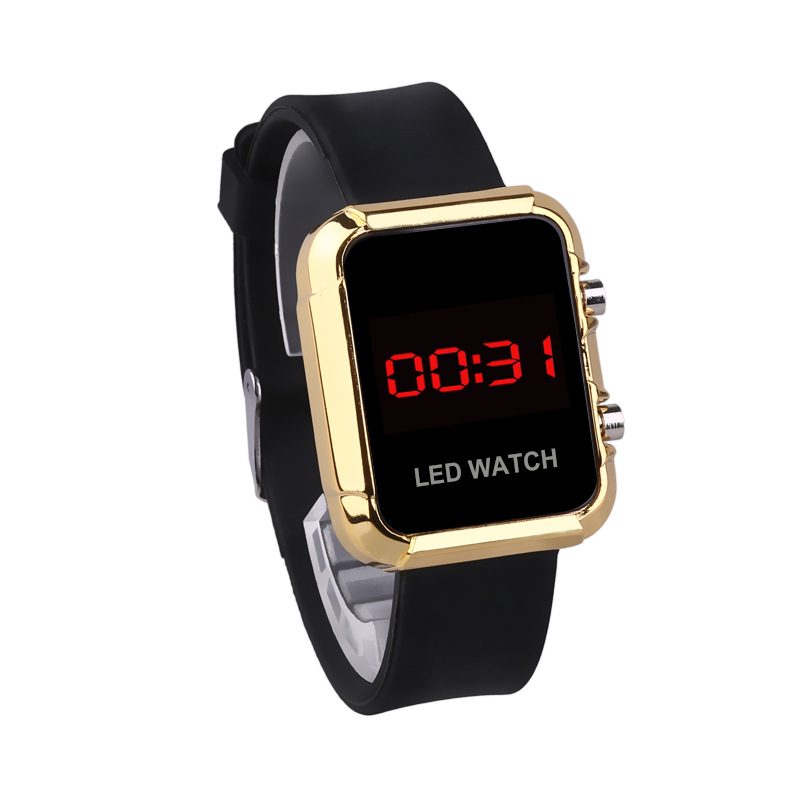Sport Casual LED Watch Women Men Digital Clock Ladies Alloy Case Silicone Wrist Watch Clock Hodinky Ceasuri Relogio Masculino