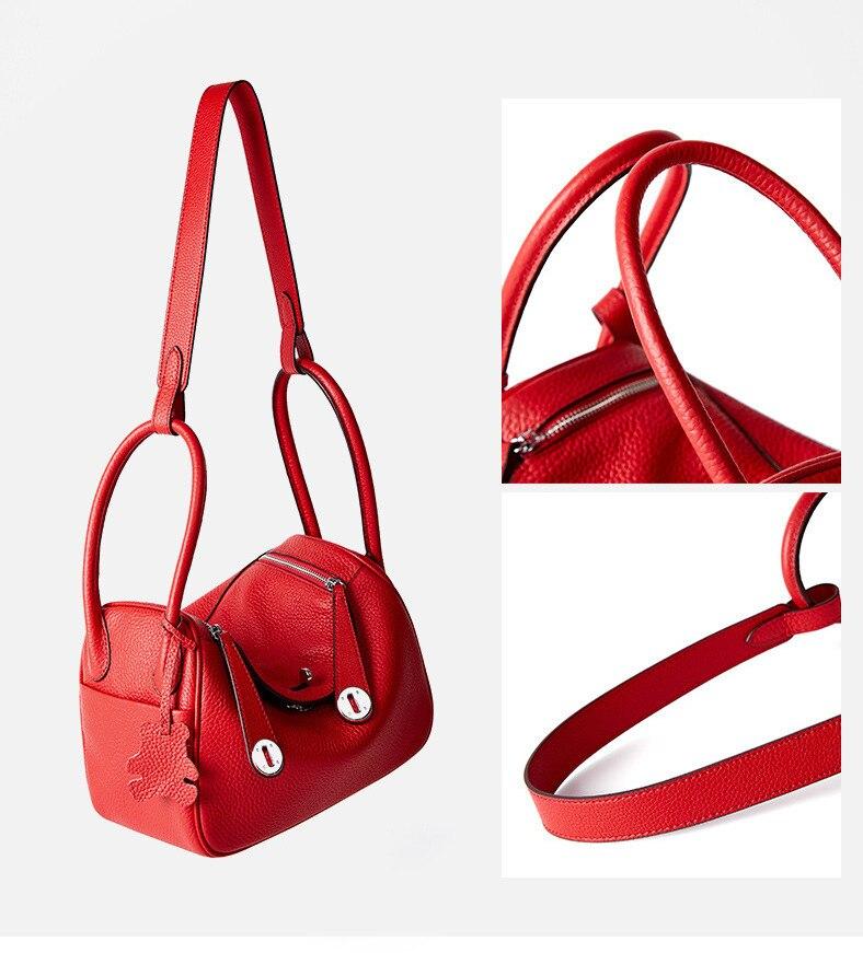 marca de luxo designer couro genuíno bolsa